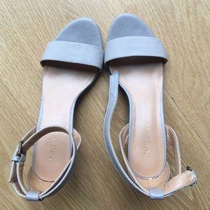 Low wedge heel sandals